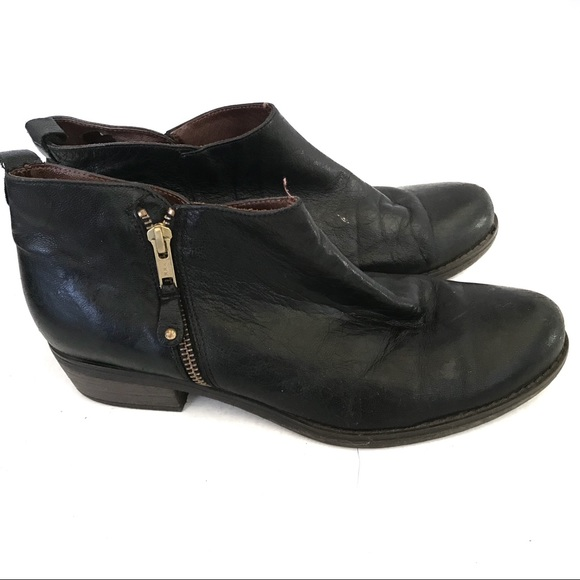 Eric Michael Shoes - Eric Michael Handmade Black Leather Booties Sz 10